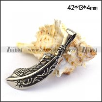 42MM Long Feather Charm p003543