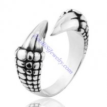 Fierce Dragon Claw Ring in Stainless Steel for Mens -JR350016