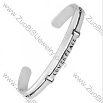 LOVE & PEACE Stainless Steel Bangles - JB350058