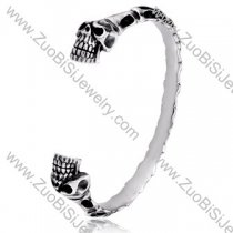 Double Skull Stainless Steel Bangles - JB350027