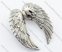 Small Stainless Steel Wing Pendant-JP330051