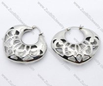 Hollowing Heart Shaped Stainless Steel earring - JE050093