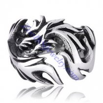 Unique Silver 316L Dragon Ring in Stainless Steel Metal -JR350005