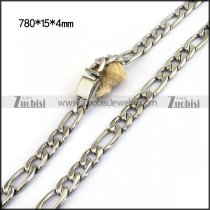 15MM Figaro Chains for Men with Casting Box Buckle n001137
