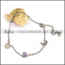 Elegant Slim Stainless Steel Anklets for Girls ac000093