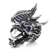 China Dragon Ring in 316L Steel -JR350234