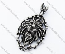 Stainless Steel Lion pendant - JP090377