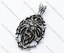 Stainless Steel Lion pendant - JP090375