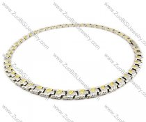 Stainless Steel Magnetic Necklace - JN250007