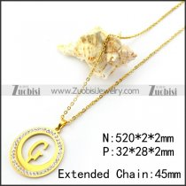 Gold Plating Initial G Pendant Chain n001696