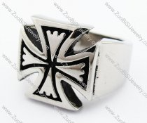 Stainless Steel Maltese Cross Ring - JR370012