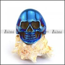 Blue Plated Skull Ring r003685