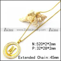 Initial M Rhinestones Charm for Ladies n001702