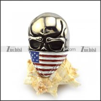 American Flag Skull Biker Small Ring r003927