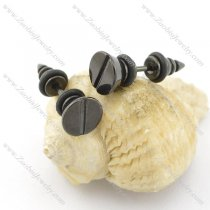 black piercing earring for unisex g000231