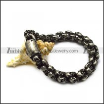 Skull Bracelet in Matte Finishing b006993