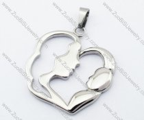 Stainless Steel mother love Pendant for Mother's Day gift -JP330030