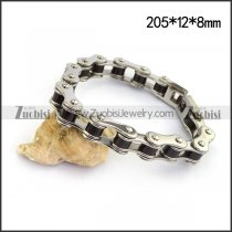 Bike Chain Bracelet with Black Tube b004517