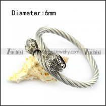 Snake Head Wire Bangle b005836