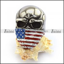 Epoxy Americal Flag Skull Rings for Outlaws r003724