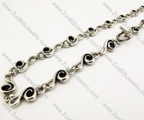 Musical Note Stainless Steel Biker Necklace -JN170013