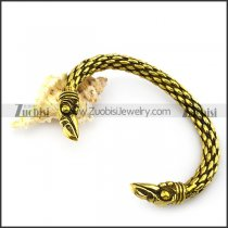 antique gold plated brass raven bangle b005504