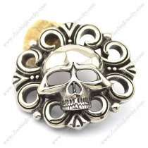 Skull Belt Buckle in 316L Stainless Steel bu000030
