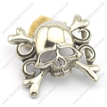 Skull and Crossbones Belt Buckle in Stainless Steel bu000040