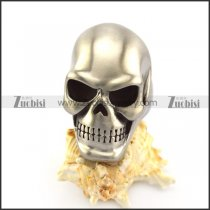 Matte Solid Stainless Steel Skull Ring r004915