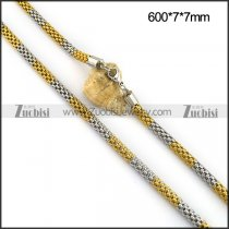Gold and Silver Plated Stainless Steel Meshy Chain n001102