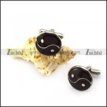 YinYang Stainless Steel Cuff-link c000148