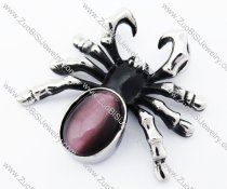 Grape Purple Stainless Steel Spider Pendant for Man - JP170230