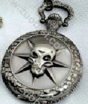 Black Gun Metal CS Head Shot Pocket Watch Chain - PW000005