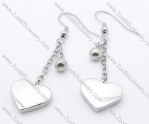 Solid Heart Stainless Steel earring - JE050131