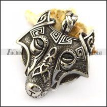 Stainless Steel Viking Wolf Pendant p005877