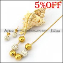 Rhinestone Ball Jewelry Set s001926