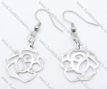 1 China Rose Stainless Steel earring - JE050122