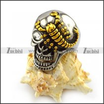 One Eye Skull Ring with Golden Scorpion r004316