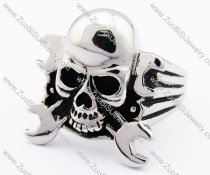 Stainless Steel Skull Ring with wrench -JR330064