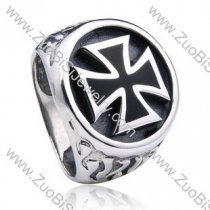 Stainless Steel Cross Ring - JR350122