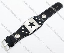 Stainless Steel Star Leather Bracelet -JB140050