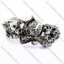 Solid Skull Bangle for mens -JB170094