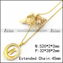 N Letter Charm Chain for Girls n001703