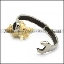 big stainless steel casting spanner bangle for bikers b006576