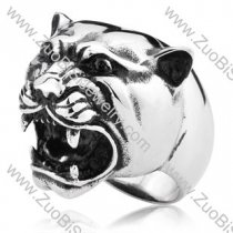 Large Stainless Steel Leopard Ring - JR350172
