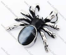 Dusty Blue Stainless Steel Spider Pendant for Man - JP170229