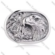 Vintage Men's Titanium 3D Embossed Eagle Buckle for Heavy Motorcycle Bikers -JZ350005