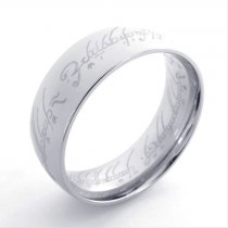 Silver Stainless Steel The Lord of the Rings with 8mm Wide JR430005-1