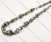 Mens Biker Stainless Steel Necklace 21.5 inch -JN170009