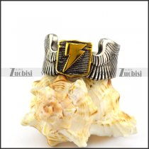 Wing Ring with Gold Plating Flashing Lightning r004896